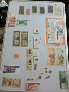silver coins &certificates gold fractional currency antiques rare notes Huge lot