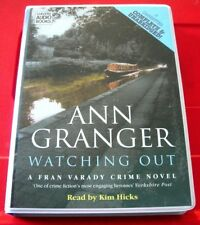 Ann Granger Watching Out Fran Varady 8-Tape UNABR.Audio Book Kim Hicks Crime