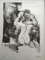 Willi Sitte (1921-2013), Liebespaar, 59/100, 1980, DDR-Kunst