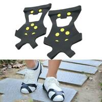 Winter Ice Snow Anti Slip Spikes Grips Grippers Crampon Cleats For Shoes Boots.