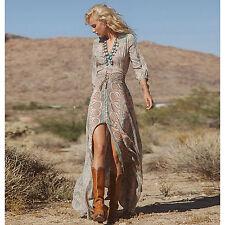 Sommer Maxikleid Maxi Kleid Strandkleid Hippie Boho Beach Dress M L 38 40 NEU