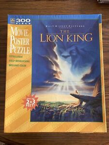 VTG Walt Disney The Lion King Movie Poster Puzzle 300 Piece From Golden 2' x 3'