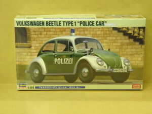 "1:24 VOLKSWAGEN BEETLE TYPE 1 ""POLICE CAR"" Hasegawa 20251"