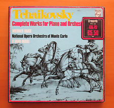 Philips 6703 003 Tchaikovsky Complete Works Piano & Orchestra Haas Inbal 3xLP EX