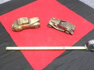 Lot of 2 Vintage Banthrico Car Banks 1941 Lincoln & 1930 Cadillac
