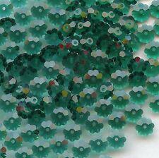 3700 6 E *** 15 pierres à coudre fleur 6 mm Swarovski EMERALD