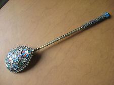 Cuillère Russe en Argent Vermeil émaillé cloisonné Russian Silver enamel spoon