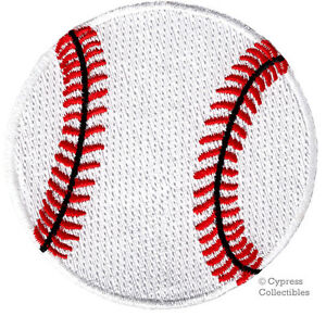 EMBROIDERED BASEBALL PATCH - new IRON-ON APPLIQUE SPORTS BASE BALL FASTBALL