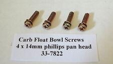 Carburetor Float Bowl Screws Mikuni Keihin 4mm x 14mm 4PK