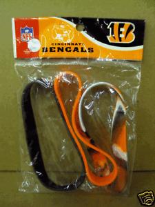Cincinnati Bengals 3 Rubber Wristbands New