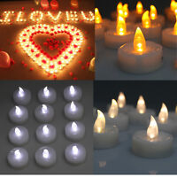 24/60/100 PCS Electronic Tea Light LED Candle for Valentines Day Wedding Party