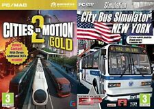 city bus simulator new york & cities in motion 2 gold   new&sealed