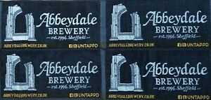 OFFICIAL ABBEYDALE BREWERY 4 x BAR TOWELS SET NEW MINT CONDITION