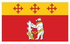2 X Bandera Warwickshire Oso Emblema Pegatinas de Vinilo Coche Furgoneta Camión Taxi Camión