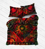 Mandala Duvet Cover Set Bedding Queen Size Bohemian Indian Cotton Donna Hippie