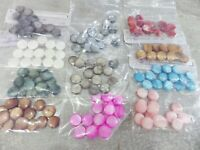 JOB LOT 11.5mm Natural Dyed Shell Disc Beads : 15 pcs per pack x 11 colours
