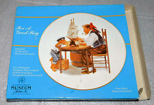 "For a Good Boy Norman Rockwell Inspired Porcelain Gold Trim 6.5"" Collector Plate"