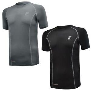 RunFlyte Men's Flyte Compression Short Sleeve Tshirt Running Base Layer Gym Yoga