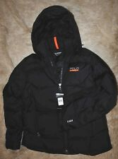 POLO SPORT, L, Black on Black Quilted Sideline 650 Down Fill Jacket Ski NWT $385