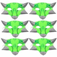6 Green Ankylosaurus Foam Dinosaur Childrens Masks by Blue Frog Toys