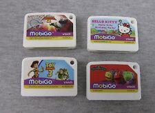 Lot of 4 Vtech mobiGo Games Toy Story 3 Hello Kitty Kung Fu Panda Chuggington