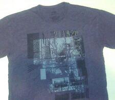 Mens Modern Retro Graphic Crew neck Apt. 9 T-Shirt Charcoal Gray
