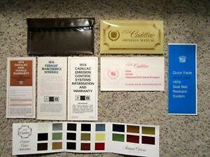 1974 Cadillac DeVille Factory GM Original Owners Manual Set Complete Mint