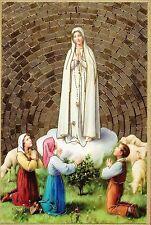 "Our Lady of Fatima - Gold Foil Mosaic Plaque (4"" x 6"")"