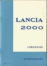 LANCIA  2000 Betriebsanleitung 1971 Bedienungsanleitung  Handbuch Bordbuch  BA