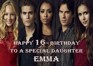 vampire diaries personalised A5 birthday card mum daughter niece sister name....