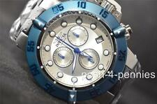 INVICTA SUBAQUA NOMA III OCEAN QUEST BLUE SILVER BLACK LEATHER BAND WATCH 10546