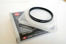 LEICA E49 49mm UVA FILTER II 13035 BLACK BOXED FOR LEICA M Q Q2 / 28 ASPH