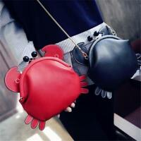 Cute Crab Shape Handbag Chain Clutch Shoulder Bag Tote Purse Toys Messenger Bags