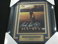 RUDY RUETTIGER Signed Notre Dame RUDY 8x10 Photo FRAMED Auto BAS BECKETT COA