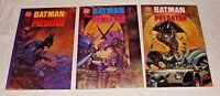 Batman Versus Predator [Prestige Format] 1 2 3  (1991, DC / Dark Horse) LOT of 3