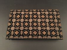 Black Velvet and Metallic Stitching Evening Bag Clutch Made in India Textured