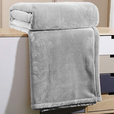 Flannel Coral Fleece Blanket Gray Throw Sofa Cover 59 * 82 inch for New Year