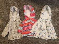 Carter's Baby Girl Fleece Hoodie Lot 3 Months And 6 Months