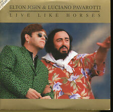 ELTON JOHN PAVAROTTI CD SINGLE LIVE LIKE HORSES