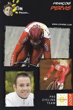 CYCLISME carte cycliste  FRANCOIS PERVIS équipe COFIDIS 2009