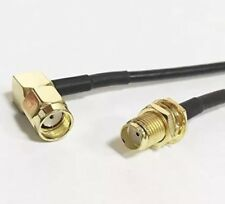 "SMA female to RP SMA male angle pigtail Cable 20cm 8"" for Wi-Fi Router RF RG174"