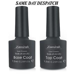 Nail Gel Polish Zamirah® Soak Off No Wipe Top Coat Base Coat Primer Matte Nails