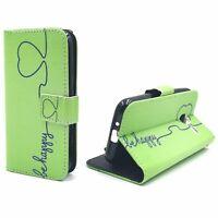Schutz Hülle für Samsung Galaxy J1 Mini Be Happy Grün Tasche Case + 1 Panzer Sch