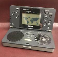 NEW Clock Radio - World Time Traveler - RCA RP1224 Alarm Clock Global Map