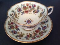 PARAGON FINE BONE CHINA CUP & SAUCER ANTIQUE SERIES STUART PATTERN