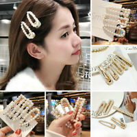 Women Fashion Hair Clip Hair Pin Bobby Comb Barrette Pearls  Hair Accessories