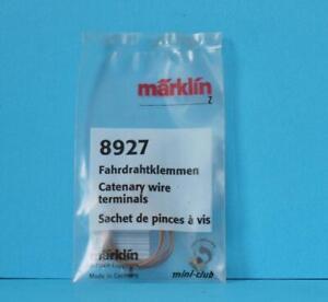 NEW MARKLIN CATENARY WIRE TERMINALS 8927 Z GAUGE CLIPS MINI CLUB 1:220 SCALE