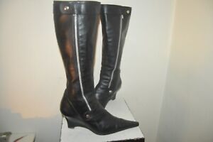 CHAUSSURE BOTTE REQINS CUIR TAILLE 40