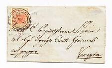 V330-LOMB.VENETO-15 CENT ROSA CAMMINO DA ADRIA A VENEZIA 1851