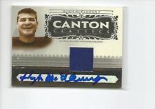 HUGH McELHENNY Autographed Signed 2006 Canton Classics JERSEY card Vikings 49ers